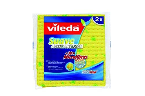 Vileda 142012 - Bayeta Suave Antibactérias con 30% Microfibras (2 unidades)