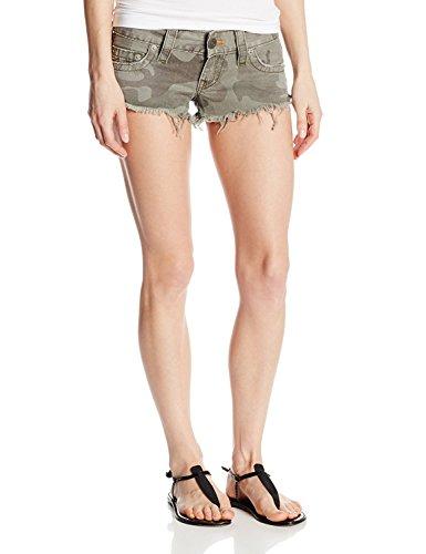 True Religion Women's Bobby Camo Cutt Off Shorts In Deringer (24)
