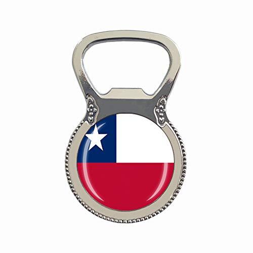 Flaschenöffner mit Chile-Flagge, Kühlschrankmagnet, Metall, Glas, Kristall, Reise-Souvenir, Geschenk, Heimdekoration