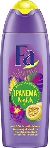 FA Duschgel Brazilian Vibes Ipanema Nights mit 100% natürlichem Maracuja-Extrakt und Nachtjasmin-Duft, 1er Pack (1 x 250 ml)