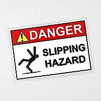 WZZA 13.9cm×9.2cm警告危険滑りハザードデカールPVC車のステッカー