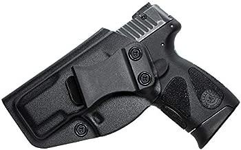 Taurus G2C IWB KYDEX Holster, Fit Taurus Millennium G2 PT111 PT132 PT138 PT140 PT145 PT745, Inside Waistband - Adjustable PT145 PT745 - Inside Waistband - Adjustable Cant - Left Hand