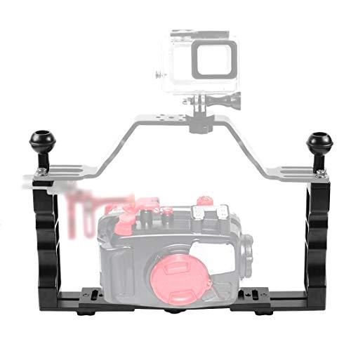 PULUZ CNC Aluminium Tray Stabilizer Rig Light Arm Holder für Unterwasserkamera Gehäuse Tauchschale Halterung für GoPro DSLR