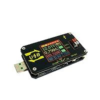 KingLan XY-UDP CNC USBカラースクリーン電源電圧ステップダウンモジュール定電圧定電流5V~9V 12V 24V USB電圧コントローラUSBテスタ