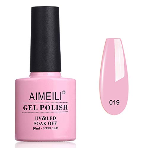 AIMEILI Rosa Nagellack Soak Off UV LED Gellack Pink Gel Nail Polish 10ml - Cake Pop (019)