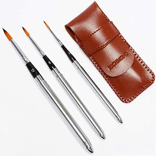 Juego de pinceles de viaje para artista, diseño compacto de bolsillo ideal para acuarelas y acrílicos