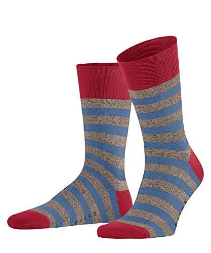 FALKE Herren Sensitive Mapped Line M SO Socken, rot (Berry 8172), 39-42