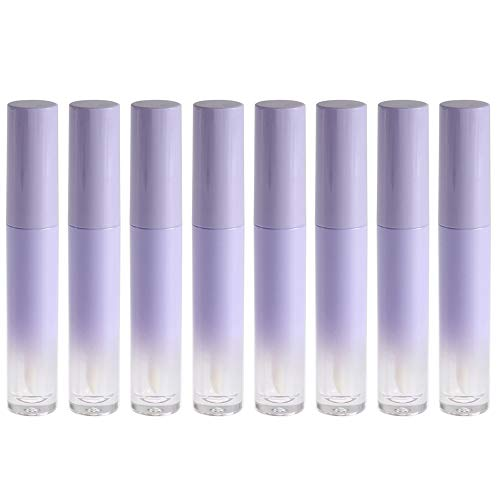 RONRONS 15 Pieces 5ml Gradient Purple Lip Balm Empty Container Tubes with Top Cap, Lip Glaze Oils Refillable Bottle Holder DIY Lip Gloss Tube Lipstick Homemade Makeup Gifts for Girls Ladies Women