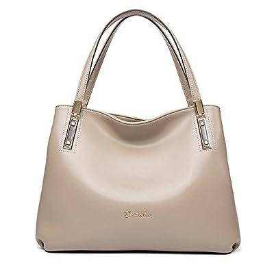 BOSTANTEN Femme Cuir Véritable Sac à Main Sac Cabas Sac porté Main Sac Tote Handbag