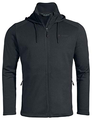 VAUDE Men's Lasta Hoody Jacket II Veste Polaire Confortable pour la randonnée # Chaleur agréable # Facile d'Entretien # Fabrication écologique Homme, Phantom Black, FR : M (Taille Fabricant : M)