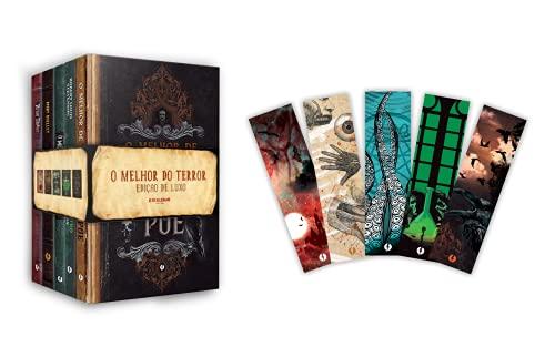 Kit O Melhor do Terror em edição de luxo: 5 livros em capa dura + 5 marcadores exclusivos