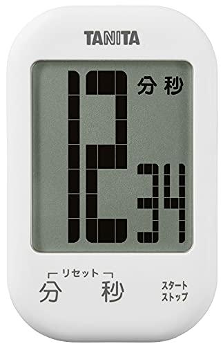 タニタ キッチンタイマー マグネット付き デジタルタイマー 100分計 大型表示 ココナッツホワイト TD-413-WH