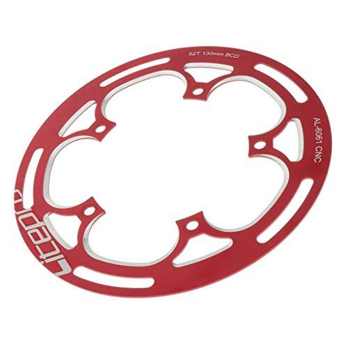 lahomia BCD Premium de 130 Mm, único 52T / 53T de Resistencia - Rojo