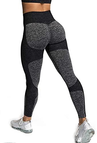 ShinyStar Sport Leggings Damen Schwarz High Waist Blickdicht Lange Yoga Sporthose Push Up Fitnesshose mit Hohe Taille Schwarz S