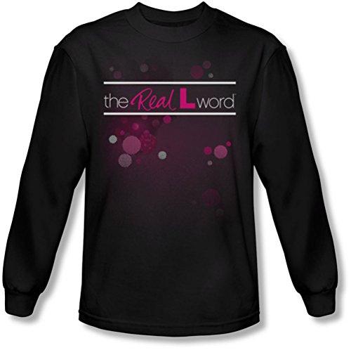 The Real L Word - Logo Flashy shirt manches longues de Men In Black, XX-Large, Black