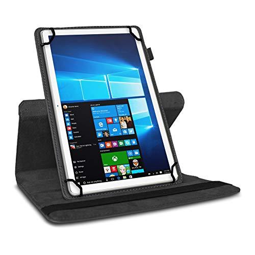 UC-Express Tablet Hülle kompatibel für LNMBBS P40 Tasche Schutzhülle Case Schutz Cover 360 Drehbar 10.1 Zoll, Farbe:Schwarz