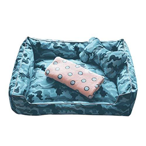 Afneembaar en wasbaar huisdier nest waterdichte kennel kat nest grote hond bed kleine kennel mat sturen bot kussens en dekens zolang Small