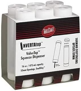 TableCraft INVERTAtop ValveTop Natural Squeeze Bottle Dispenser, 12 oz, Clear | 6/Pack
