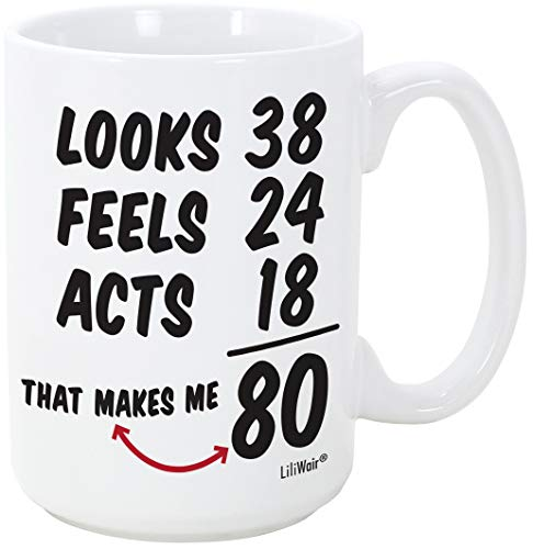Funny Birthday Mug for 80 Year Olds