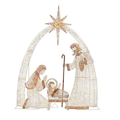 Home Accents Holiday 120 in. 440-Light LED Giant Nativity Scene