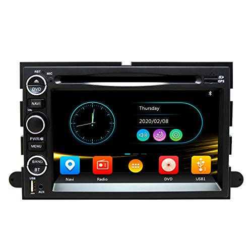 SWTNVIN Car Radio Stereo Fits for Ford Fusion Explorer Focus Edge Montego F150 DVD Radio 2 Din 7 Inch Touch Screen Car Navigation Stereo with Bluetooth Mirror Link SWC CD USB and SD Card
