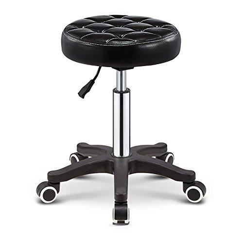 Tabourets réglables de barre pivotante, roues en plastique de selles de haute qualité n'écorcheront pas le plancher, dessus mou de remplissage de 10cm très épais, tabouret de 5 roulettes