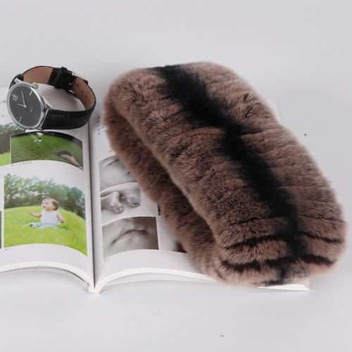 WEIYIM Bufanda de Invierno Bufanda De Piel De Invierno para Mujer Bufanda De Piel Elástica Bufanda De Anillo Premium Bufanda De Punto Natural