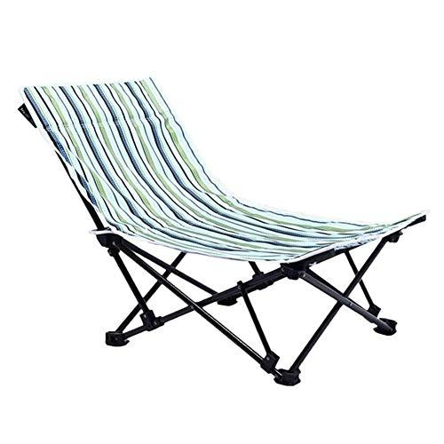 CHENXU Leichter Klappstuhl Low Sling Beach Chair Folding, Strand Sling Stuhl mit Tragetasche - oder Camping, Strand, Backpacking Outdoor-Festivals, Unterstützung 120kg