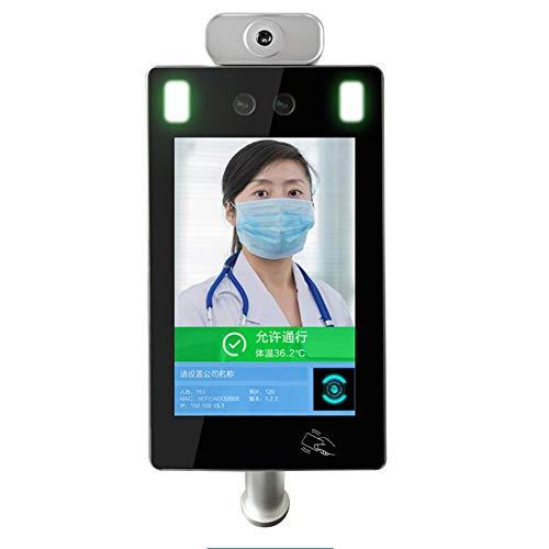 HHJY Praktisches Zeiterfassung Zutrittssystem 300 Gesichtserkennung Passwort/Karte, 10.1 Zoll Display Stempeluhr Stechuhr USB Datenexport