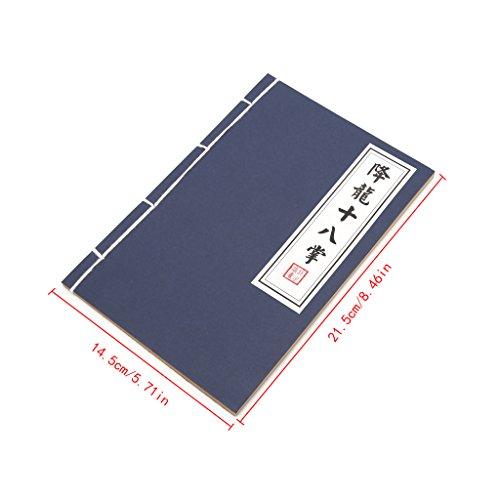 fivekim Diario de Kungfu Marcial Chino Diario Memo Cuaderno Bloc de notas en blanco Página Papelería