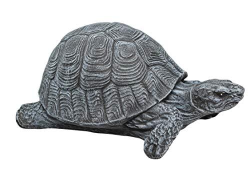 Tiefes Kunsthandwerk Statue aus Stein Schildkröte, schiefergrau, Steinoptik