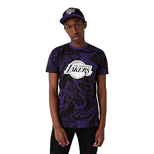 New Era NBA Los Angeles Lakers Oil Slick AOP - Camiseta para...