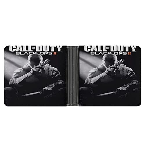 Call of Duty Black Ops 3 Pochette portefeuille en cuir PU pour cartes de crédit, espèces, etc