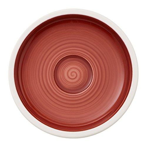 Villeroy & Boch Manufacture Rouge Soucoupe pour tasse à moka/expresso, 12 cm, Porcelaine Premium, Rouge