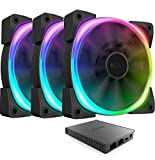 NZXT AER RGB 2 - HF-2812C-T1 - 3-Pack of 120mm RGB PWM...