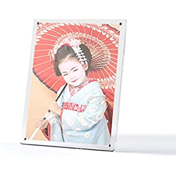 壁掛け/卓上 縦/横 可能 マグパチ フォトフレーム アクリル製 日本製 A4判サイズ 015-0000 写真立て 写真たて フォトスタンド ポスターフレーム サイン色紙
