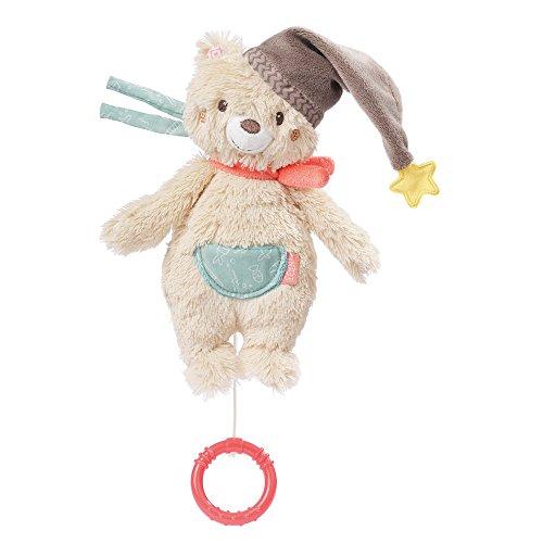 Fehn 060119 Mini-Spieluhr Bär – Aufzieh-Spieluhr mit herausnehmbarem Spielwerk – Melodie
