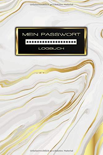 Mein Passwort Logbuch: Mit Register a5 - Passwort Buch zum Organisieren und Verwalten von Zugangsdaten, Login-Daten, PINs, PUKs und E-Mail Konten - Buch Softcover: Glänzend