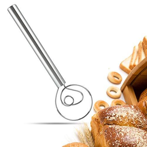 DaceStar Danish Teig-Schneebesen 30,5 cm großer Mixer Mixer Admixer für Kuchen, Dessert, Brot, Pizza, Gebäck, Lebensmittel-Handgeschirr, hochwertiges 304 Edelstahl Dänischer Teigbesen