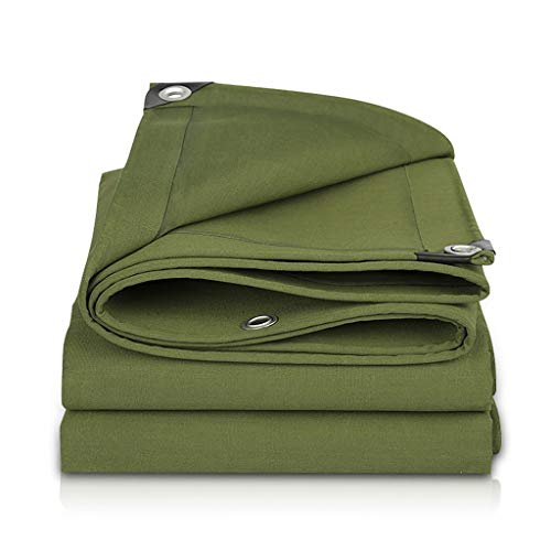 Patios Outdoor Rain Cloth Shade Cloth Canvas Thick Tarpaulin Army Green Thick Cover Cargo Sunshade Oil Canvas Awning Fabric (Size : 3m×5m)