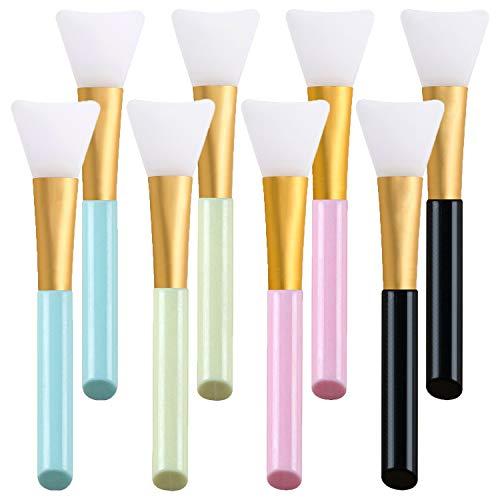 NEPAK 8 Pcs Maskenpinsel Silikon,Gesichtsmask Pinsel Gesicht Set,Kosmetik Make-up Gesicht Bürste für die Gesichtsmasken, Augenmaske,Serum oder DIY