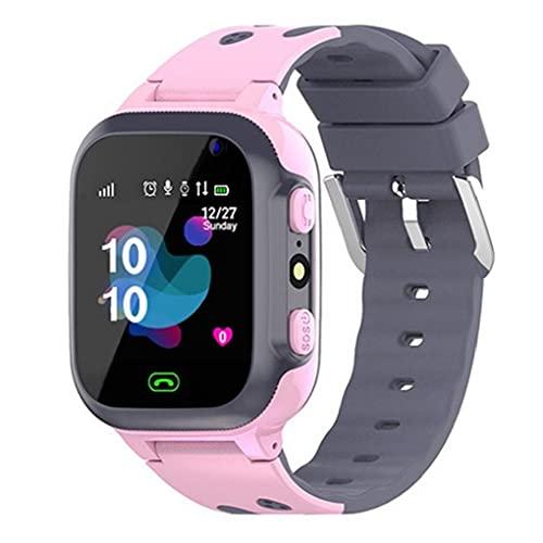 Niños Reloj Inteligente P16 Impermeable de la muñeca Juego SmartWatch Localización Tracker con Alarma de la cámara del Reloj Sos para Niños Niñas Rosa