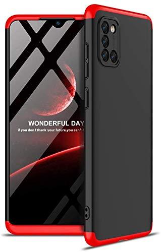 """Capa Capinha Anti Impacto 360 Para Samsung Galaxy A31 com Tela de 6.4"""" Polegadas Case Acrílica Fosca Acabamento Slim Macio - Danet (Preto com Vermelho)"""