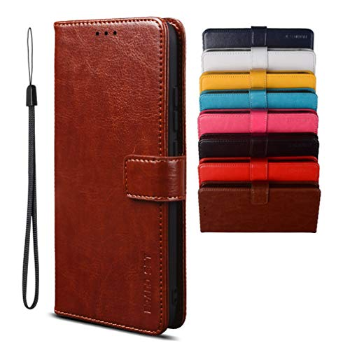 Hülle für DOOGEE S86 Pro/DOOGEE S86 Handyhülle, Magnetverschluss Premium PU Leder Flip Hülle, mit Kartenfächern Brieftasche Standfuntion Schutzhülle für DOOGEE S86 Pro/DOOGEE S86-Braun