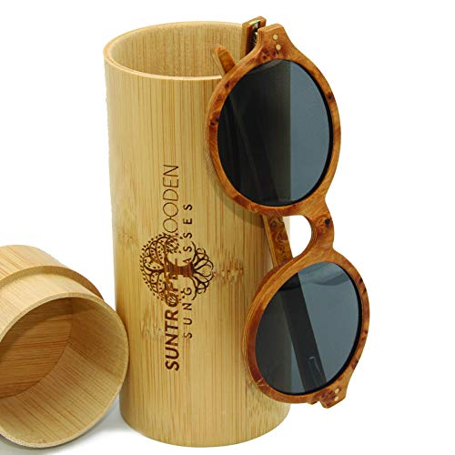 Gafas de sol polarizadas de madera, con monturas de madera ecológicas hechas a mano, gafas solares unisex y mujeres de madera auténtica, gafas de sol de madera a la moda.
