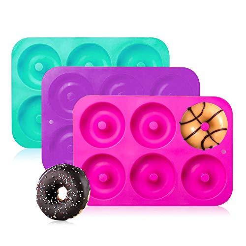 Boxiki Donut Silikon Formen für die Küche | Donutformen für backen |Silikon Backformen |Ringformen |Donut Backpfanne
