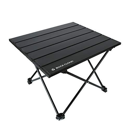 Rock Cloud キャンプテーブル折りたたみアルミロールテーブル超軽量キャンプテーブル収納袋付きアウトドアキャンプハイキングビーチバックパッキング