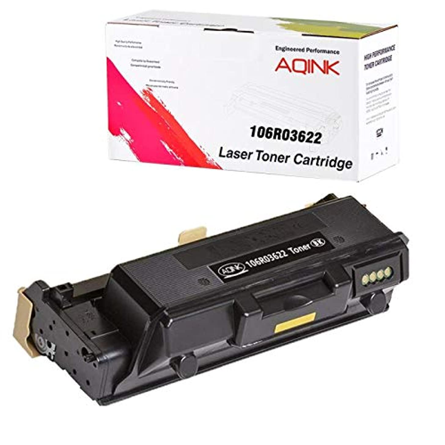 AQINK Compatible Toner Cartridge Replacement for Xerox 106R03622 106R03621 Toner Cartridge for Use in Xerox WorkCentre 3335 3345 Printer, Phaser 3330 Printer, 8,500 Pages (106R03622 Black, 1-Pack)