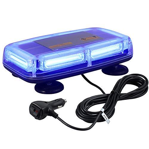 PROZOR 6-COB LED Notfall Warnblitzlicht E-Marked, IP67 Wasserdicht 7 Modi 12V/24V 60W Warnleuchte mit 4 Magnetfuß, mit Doppelschalter und 5M Netzkabel Notbeleuchtung Licht für Auto LKW (Blau)