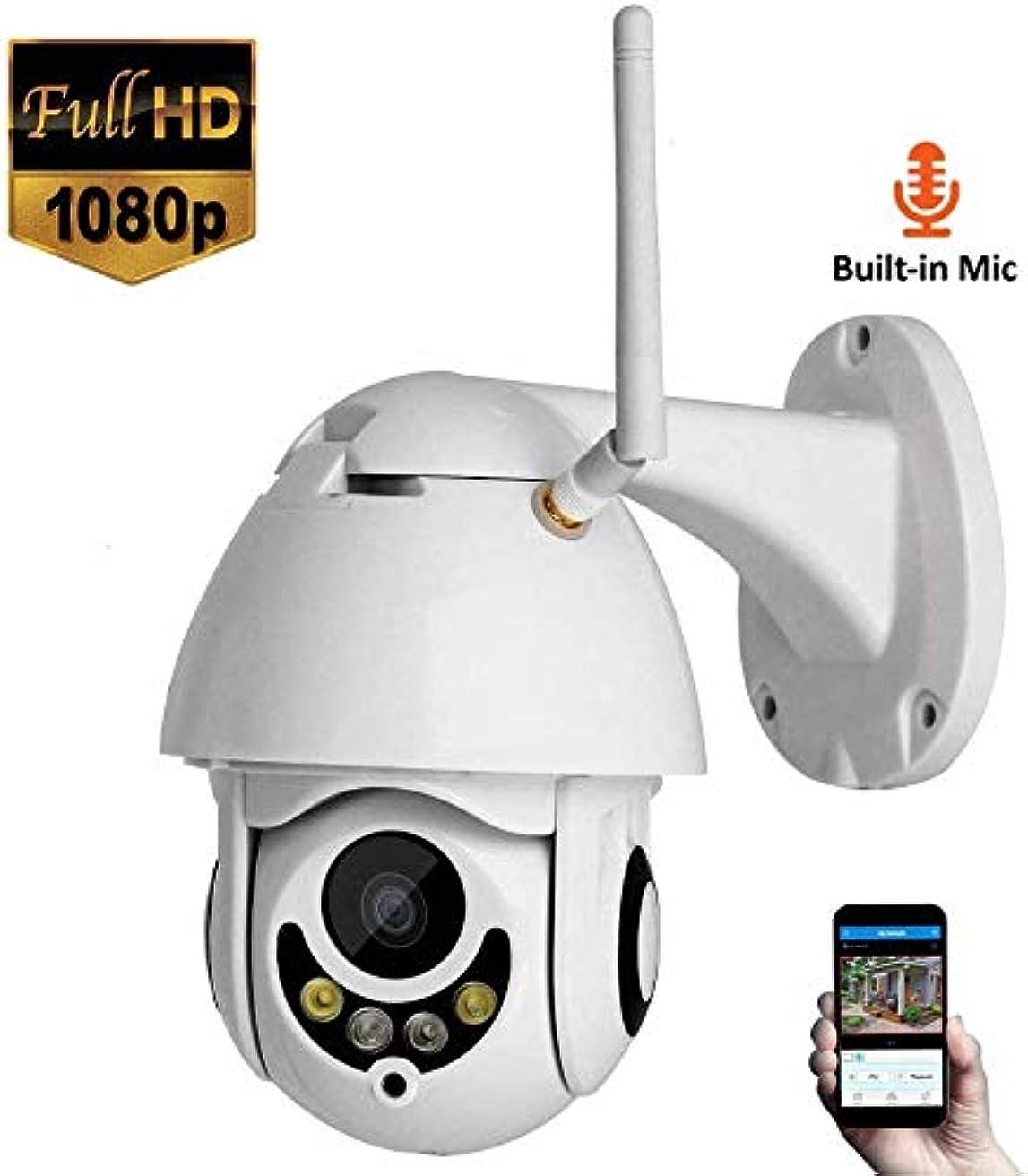 大佐道たるみL.TSA PTZ IPカメラ1080P 200万ピクセルHD Wifi屋外セキュリティ監視ナイトビジョンおよびモーション検出機能付きワイヤレスCCTV、子供/ペット/高齢者用